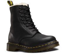 Dr Martens Niños pequeños Serena Piel Forrada Zapatos Botas De Cuero Negro