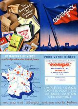 Publicité CENPA - papiers sacs sachets pochettes caisses cartons cenpaphane -