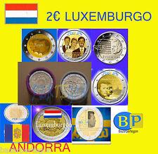 Andorra Luxemburgo euros conmemorativos 2011 2012 2013 2014 2015  rollo  roll €