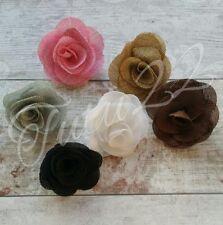 burlap fabric flower head dress making, tutus, crafts , decor, weddingUK SELLER