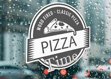 Wood Pizza Classic Bake Take Away Time Large Self Adhesive Window Shop Sign 3189