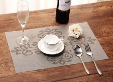4 Stk Tischmatte Tischset Platzset Platzmatte abwaschbar Platzdeckchen Bestickt