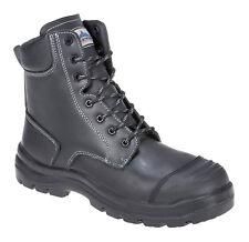 Portwest Pro Eden Combat S3 résistant à l'eau haut jambe fermeture éclair sécurité boot FD15
