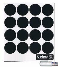 Cohas Chalkboard Sm. Spice Jar Labels fit Libbey 4 1/2 oz w/wo Chalk Marker