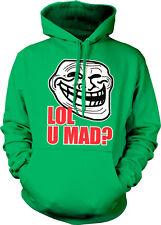LOL U Mad? Trollface Meme Face Troll Cool Internet Angry Blog Hoodie Sweatshirt