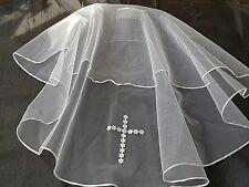 Traditional communion voile avec daisy cross