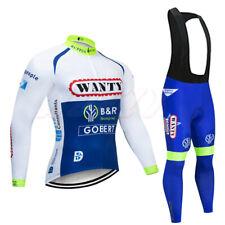 Cycling Jersey Winter Thermal Long Sleeve Road Shirt Full Zipper Bids Trousers