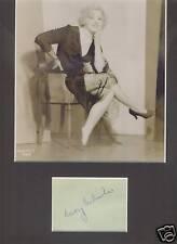 MARY CARLISLE  BEAUTIFUL 1930'S STAR VINTAGE SIGNED AUTOGRAPH DISPLAY C1932 UACC