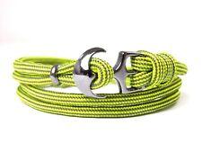 Ancla armband-paracord-verstellbar-wickelarmband-neon Yellow & Gris Carbón
