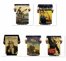 Poster Vintage World War Motivational Drawing Kraft Bar Cafe Wall Decor K13