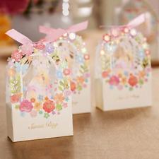 50PCS Favor Box Anti-Scratch Boxes Wedding Party Favour Ribbon Gift Candy Boxes