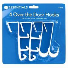 4 HOOK OVER THE DOOR CLOTHES COAT DRESS GARMENT HANGER HOOKS TOWEL RACK HOLDER