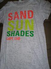 WOMENS WHITE BURN OUT SHIRT - SAND SUN SHADES CAPE COD