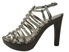 COACH Sarafina Strappy Snakeskin Sandals 7.5  8.5  9.5