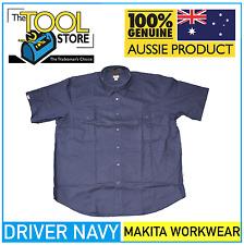 Makita Workwear Driver Navy Short Sleeve Workshirt