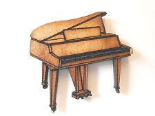 Etiqueta de Regalo formas de piano de madera 10x Tarjeta De Artesanía Hacer scrapbook adorno de arte