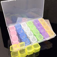 28-Slots Plastic Adjustable Jewelry Storage Box Case Craft Organizer Useful