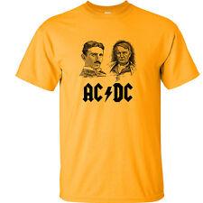 Nikola Tesla Thomas Edison T Shirt Nikola Tesla ACDC Inventor Shirt Gold Tee