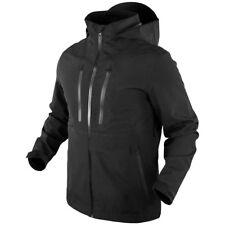 Condor Aegis Hardshell Hooded Tactical Jacket Mens Waterproof Hiking Parka Black