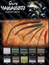"Artificiale spinning Gary Yamamoto Cut Tail 3.5"" (9cm) cut vermone black bass"