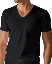 """Mey - Herren V-Neck Shirt """"Dry Cotton""""  schwarz  Halbarm   (T-Shirt/Unterhemd)"""