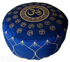 """Meditation Cushion Buckwheat & Kapok Combination Fill Zafu Pillow """"Om Universe"""""""