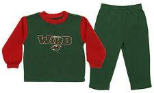 Minnesota Wild NHL Boys Toddlers Fleece Sweatshirt and Sweat Pants Jogset, Green