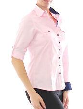 mujer blusa camisa camisa manga larga negocios Rosa Algodón 299