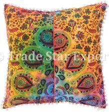 Indian Tie Dye Mandala Cushion Cover Set Boho Cotton Throw Square Pillow Cases