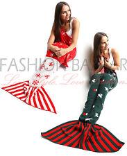 Ladies Girls Christmas Knitted Mermaid Tail Fishtail Lapghan Blanket Xmas Gift