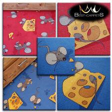 pour enfants Tapis souris rouge et bleu JEU ENFANTS ZONE Tapis chambre pas cher