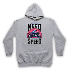 I FEEL THE NEED FOR SPEED SUPERBIKE MOTORBIKE SLOGAN ADULTS KIDS HOODIE