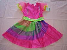 Regenbogenfee Einhorn-Prinzessin Kostüm Kleid Gr. 110/116 - 122/128 - 134/140