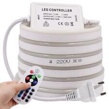 220V Soft LED Neon Light SMD 2835 5050 120LEDs/M flexible RGB tape bar  8x16mm