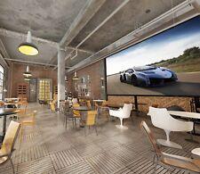 3D Cool Sports Car Road 45 Wall Paper Wall Print Decal Deco Indoor Wall Mural CA