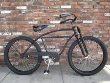 Black Motorized Bike Bicycle Whizzer Monark Type 2 Dual Springer Fork