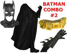 BATMAN The Dark Knight Rises costume mask, cape, gloves, yellow utility belt TDK