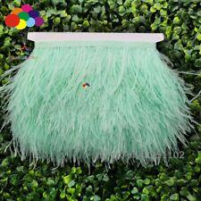 Mint Green 1//5//10 metros Pluma de Avestruz Paño Adornos Carnaval de 3.15-6In//8-15Cm Hágalo usted mismo