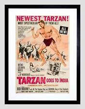 Pubblicità Film Teatro Film Tarzan India MGM Hollywood Framed Art Print b12x5054