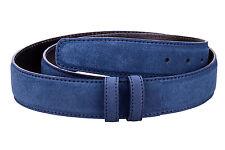 "Blue Suede Belt strap Men's belts Women's Replacement 1.3"" custom belt buckles"