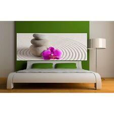 Stickers Tête de lit déco Galet Orchidée 9115