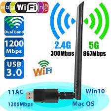 Wireless Network Adapter Dongle Card USB WiFi Laptop Desktop PC Antenna Receiver