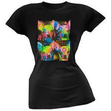 Four Chihuahuas Neon Black Light Juniors T-Shirt