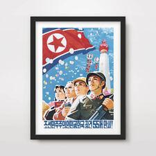 NORTH KOREAN KOREA PROPAGANDA POSTER Art Print Pyongyang Military Parade DPRK