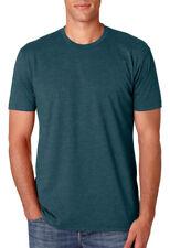 Next Level Men's Heathered Rib Knit Collar CVC Crewneck T-Shirt, 5-Pack. N6210