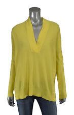Ralph Lauren Blue Label Yellow Cashmere V-Neck Tunic Sweater New $398
