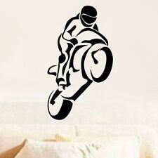 Sticker Décor Moto de course, Sportive silhouette, 20x11 cm à 50x29 cm (MOTO018)