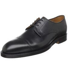 Ralph Lauren Polo Black Leather Slaton Cap Toe Oxfords New