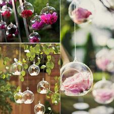 Glass Tea Light Holder Hanging Wedding DIY Bauble Candle Holder Garden Plant Pot