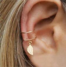 NON PIERCING LEAF EAR CUFF   WRAP CARTILAGE CLIP-ON STUD EAR CUFF EARRING 1 PAIR